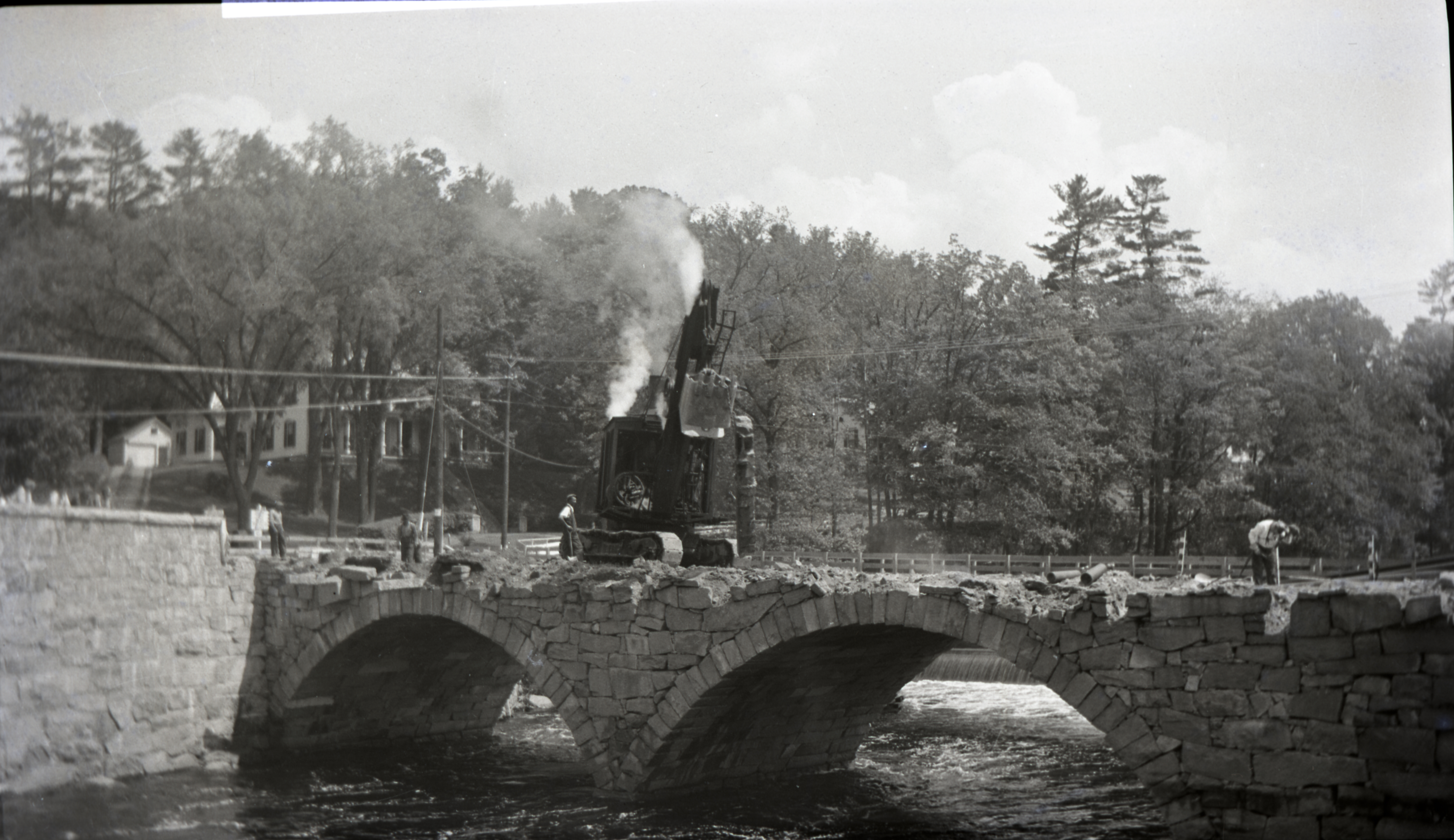 1940 Bridge Construction - Demo of Existing Bridge