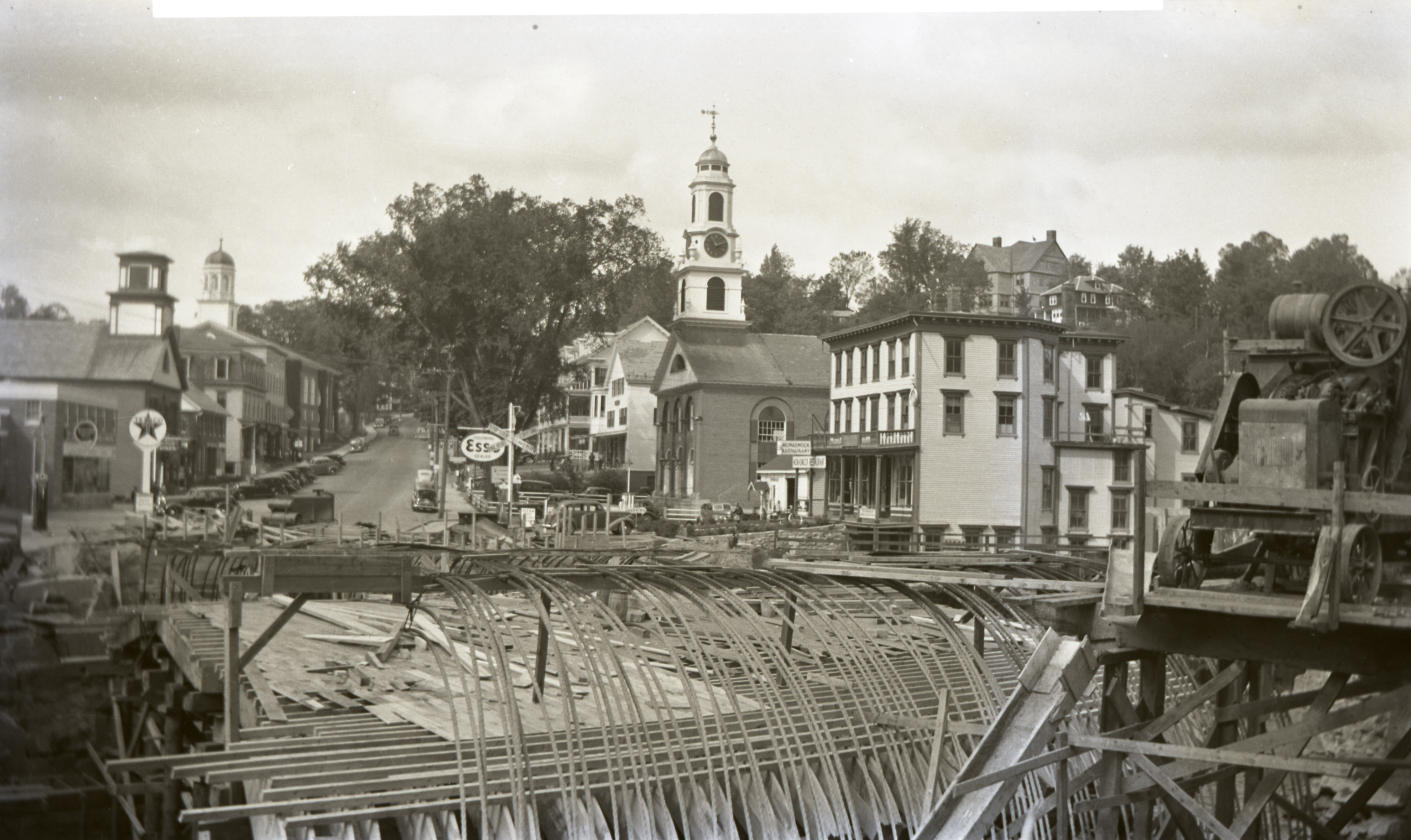 1940 Bridge Construction - Formwork & Reinforcing Looking NW