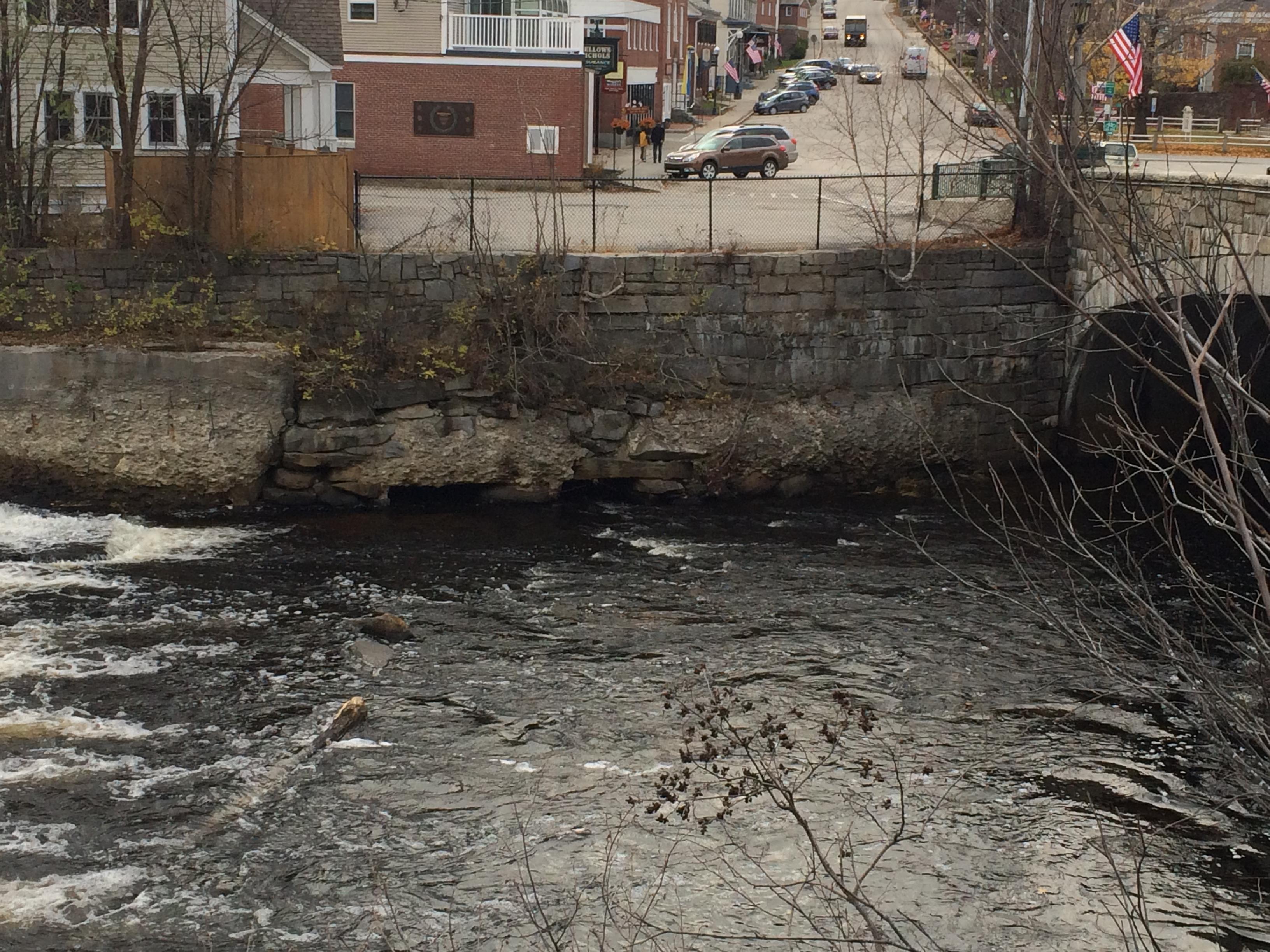 Southwest Retaining Wall Adjacent to Main St Bridge